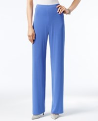 Alfani Knit Wide Leg Trousers Only At Macy's Alf Perry Blue