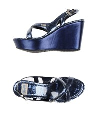 Cesare Paciotti 4Us Footwear Sandals Women Dark Blue