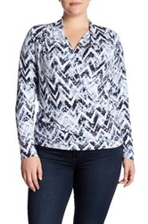 Tart Darleen Surplice Blouse Plus Size Blue
