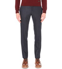Slowear Slim Fit Wool Trousers Navy