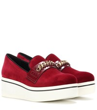 Stella Mccartney Binx Platform Loafers Red