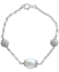 Effy Final Call By Cultured Freshwater Pearl 11Mm Link Bracelet In Sterling Silver White