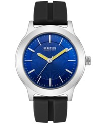 Kenneth Cole Reaction Black Silicone Strap Watch 46Mm