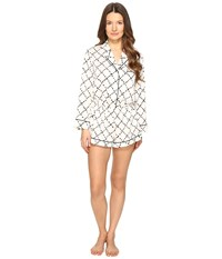 Kate Spade Romper Faux Quilt Women's Jumpsuit And Rompers One Piece White