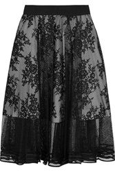 Noir Sachin And Babi Giselle Layered Mesh And Lace Skirt