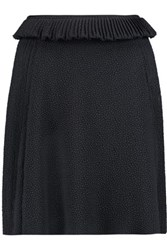 See By Chloe Pleated Cloque Mini Skirt Black