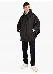 Stutterheim Men's Black Oland Cape Oki Ni