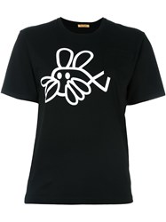 Peter Jensen Fish Rabbit T Shirt Black