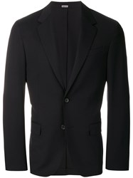 Lanvin Classic Single Breasted Blazer Blue