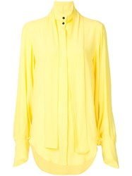 Strateas Carlucci Ammo Tie Neck Shirt Yellow And Orange