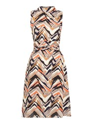 Linea Leela Graphic Multi Stripe Day Dress Multi Coloured Multi Coloured