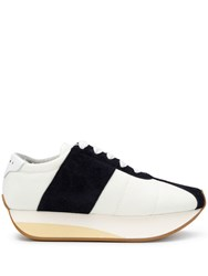 Marni Bigfoot Flatform Sneakers White