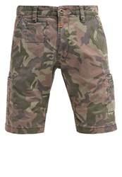Alpha Industries Deck Shorts Woodl. Camo Green