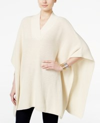 Styleandco. Style Co. V Neck Sweater Poncho Only At Macy's Warm Ivory
