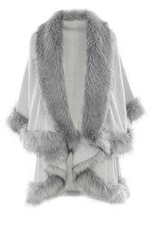 Coast Kate Faux Fur Cape Grey
