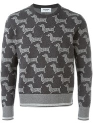 Thom Browne Dog Print Sweatshirt Grey