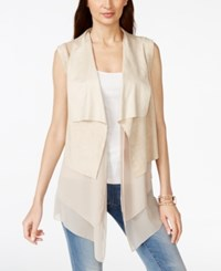 Vakko For Inc International Concepts Mixed Media Faux Suede Vest Only At Macy's