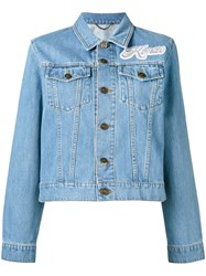 Kenzo Patch Applique Denim Jacket Blue