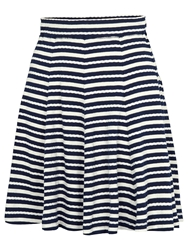 Fat Face Banbury Stripe Jersey Skirt Navy