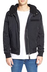 Men's Cheap Monday 'Space Bomber' Hooded Jacket