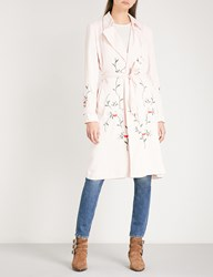 The Kooples Embroidered Denim Coat Pin01