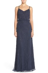Women's Candela 'Marseille' Beaded Blouson Gown Navy