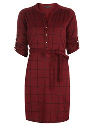Dorothy Perkins Check Jersey Shirt Dress Red