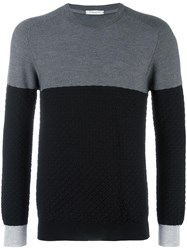 Paolo Pecora Colour Block Jumper Black