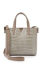 Vince Croc Embossed Baby Tote New Stone