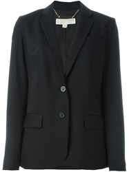 Michael Michael Kors Notched Lapel Blazer Black