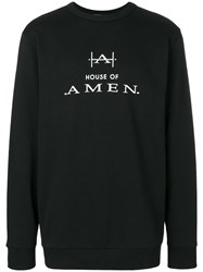 Amen Logo Print Sweatshirt Black
