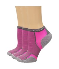 Thorlos Experia Malibu Collection 3 Pair Pack Pink Vibe Crew Cut Socks Shoes