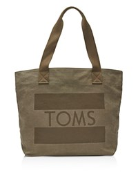 Toms Flag Tote Medium Gray