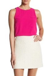 Vince Camuto Sleeveless Hi Lo Blouse Pink