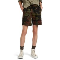 Alex Mill Tropical Camouflage Cotton Ripstop Shorts Neutral