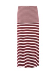 White Stuff Agra Stripe Jersey Skirt Red