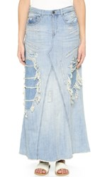 Scotch And Soda Maison Scotch Long Denim Skirt Benblueblue Vintage