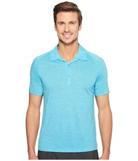 Icebreaker Sphere S S Polo Capri Heather Men's Short Sleeve Pullover Blue