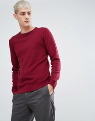 Selected Homme Crew Neck Knit Tawny Port Red