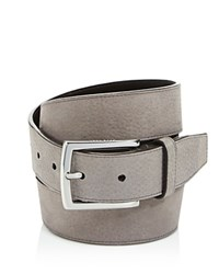 Cole Haan Large Grain Nubuck Belt With Stitched Edge Stormcloud