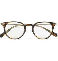 Oliver Peoples Sheldrake Round Frame Tortoiseshell Acetate Optical Glasses Brown