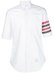 Thom Browne 4 Bar Solid Oxford Shirt White