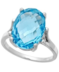 Victoria Townsend Blue Topaz Cocktail Ring In Sterling Silver 7 3 8 Ct. T.W.