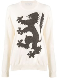 Pringle Of Scotland Cashmere Printed Jumper White