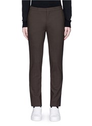 Neil Barrett Skinny Fit Satin Stripe Tuxedo Pants Brown