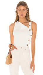 Tularosa Twisted Top In White.