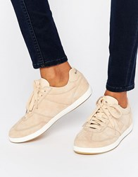 Le Coq Sportif Exclusive To Asos Stadio Sneakers In Pale Pink Nubuck Leather Beige