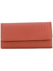 Zanellato Embossed Continental Wallet Women Leather One Size Yellow Orange