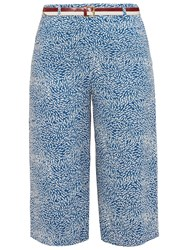 Ted Baker Colour By Numbers Kaanan Fish Print Culottes Light Blue