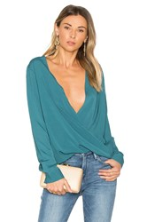Bcbgeneration Criss Cross Blouse Blue